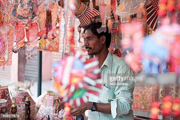 Indian stall holder, Bazaar
