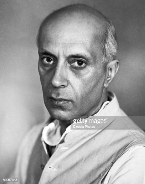 Indian statesman Pandit Jawaharlal Nehru India 1940's In 1947 he became the first Prime Minister of newly independent India