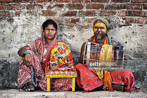 Indian artistas de la calle