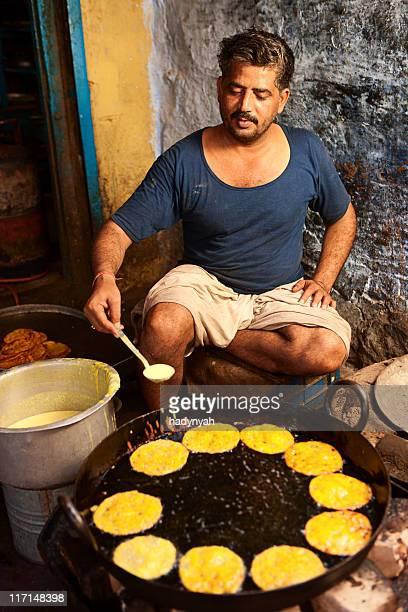 Indian street food seller,