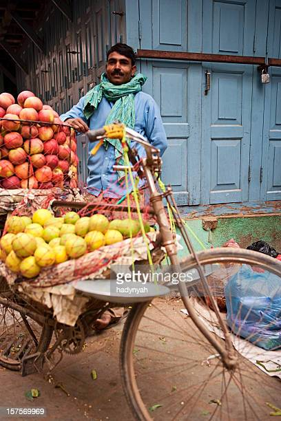 Indian street seller in Kathmandu.