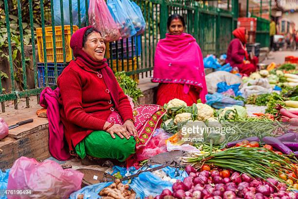 Indian street sellers in Kathmandu, Nepal