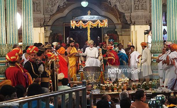 Indian student Yaduveer Krishnadatta Chamaraja Wodeyar looks on during his coronation ceremony in Mysore on May 28 2015 A 23yearold economics...