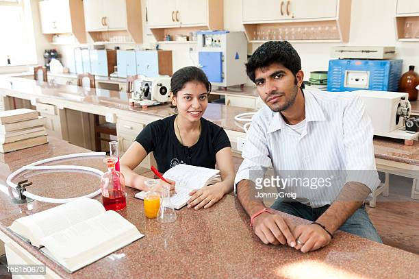 Indian Students in Science Laboratory