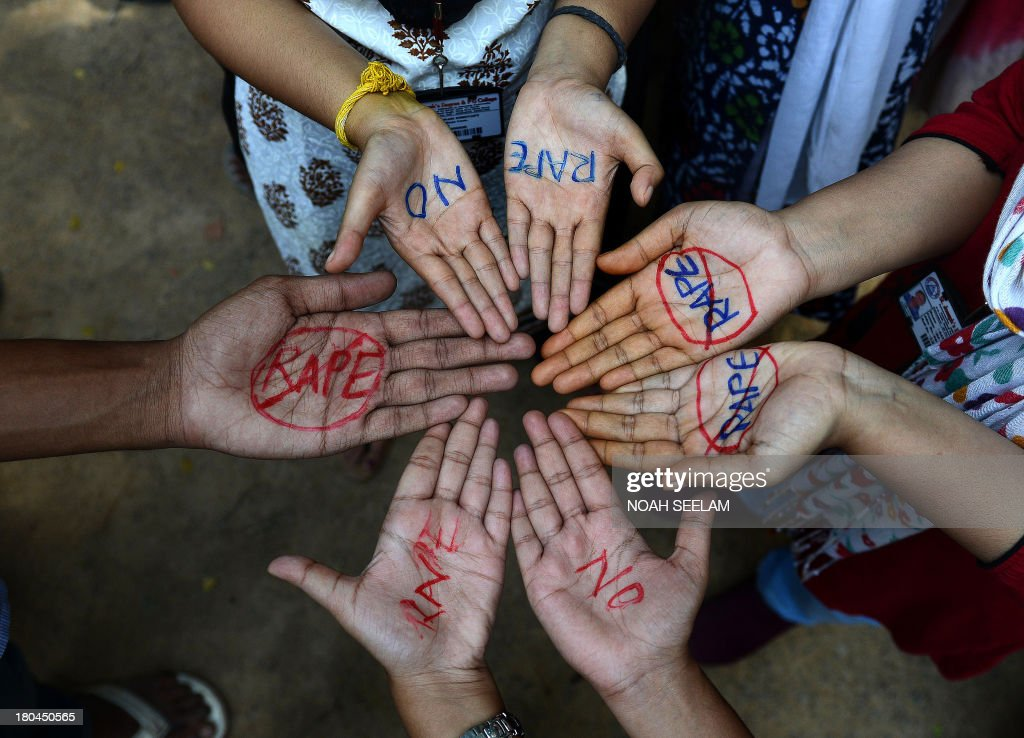 Indian students of Saint Joseph Degree college participate in an antirape protest in Hyderabad on September 13 2013 The judge hearing the case of...
