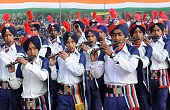 Indian students perform during an event to mark the country's 66th Republic Day parade in Amritsar on January 262015 US President Barack Obama has...