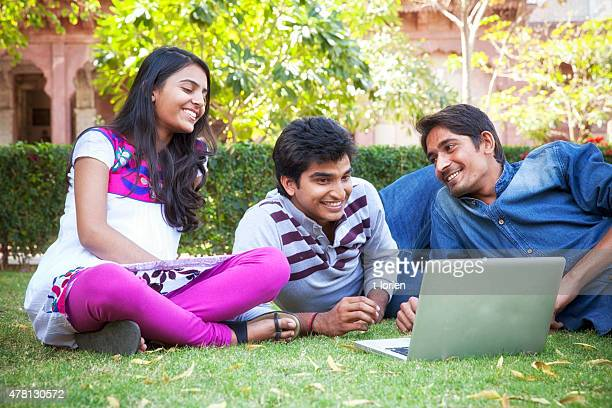 Indian Students taking a relax
