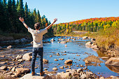 Indian Summer in New England, White Mountain National Forest, USA