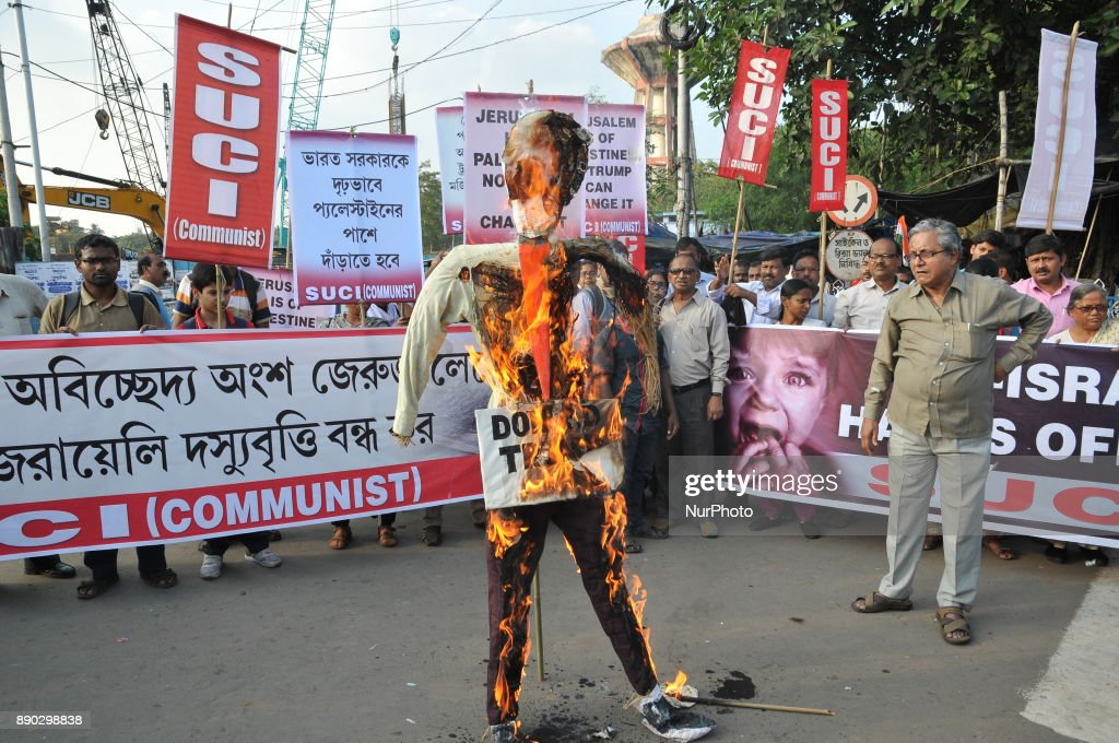 Protest in Kolkata against Trump's decision to recognize Jerusalem as the capital of Israel