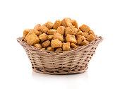 Fresh and crunchy Shakkar Para, delicious blend of gram flour, sugar, peanuts, chick peas and fried lentil.