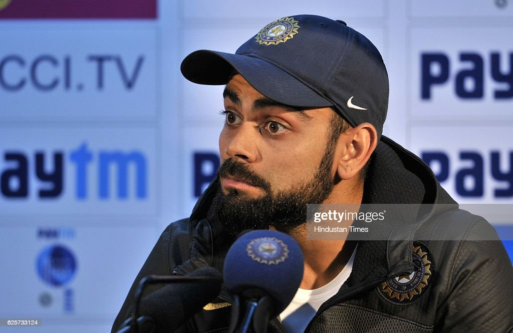 Press Conference Of Indian Team Captain Virat Kohli In Chandigarh : News Photo