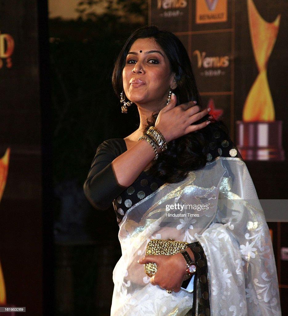 Indian television actor Saakshi Tanwar during Star Guild awards at Yash raj Studio, Andheri on February 16, 2013 in Mumbai, India.