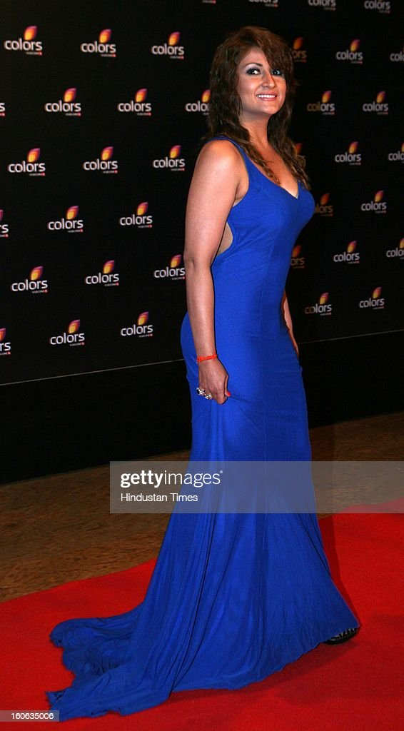 Indian television actor Urvashi Dholakia during 4th anniversary party of Colors at Grand Hyaat on February 2, 2013 in Mumbai, India.