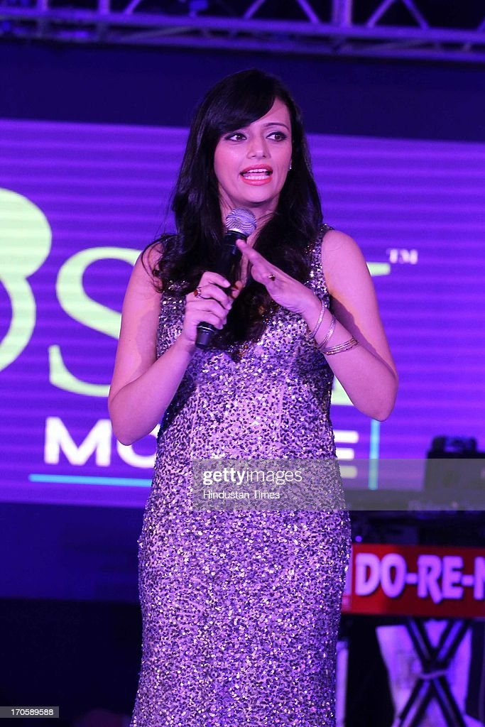 Indian Television and Bollywood actor Roshni Chopra during the 3rd Anniversary celebration of Josh Mobile and launch of new mobile at Crowne Plaza, Rohini on June 13, 2013 in New Delhi, India.