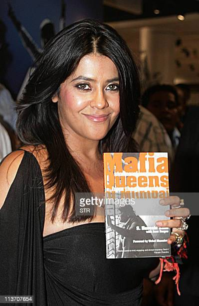 Indian television producer Ekta Kapoor attends the launch of the book 'Mafia Queens' written by one of India's leading crime journalists Hussain...