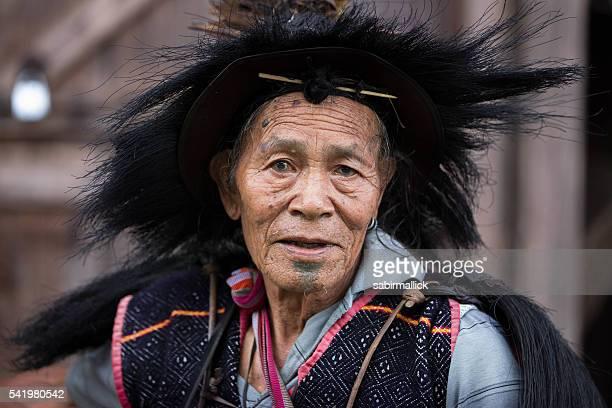Indian tribal men,Arunachal Pradesh-India.