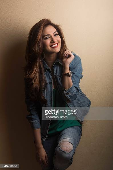 Indian TV actor Ridhima Pandit during an exclusive interview with ht48hoursHindustan Times at her home in Vile Parle on February 10 2017 in Mumbai...