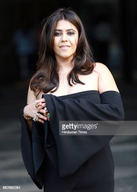 Indian TV and film producer Ekta Kapoor poses for a profile shoot on November 15 2017 in New Delhi India