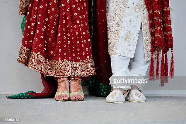Indian Wedding Couple Feet Close-Up
