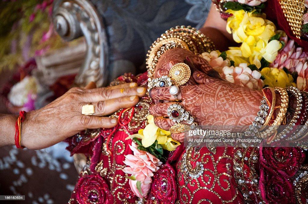 Indian wedding details : Stock Photo