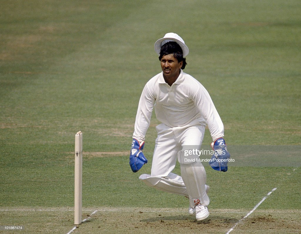 Indian wicketkeeper Kiran More during the 1st Test Match between England and India at Lord's Cricket Ground in London, 26th July 1990. England won by 247 runs.