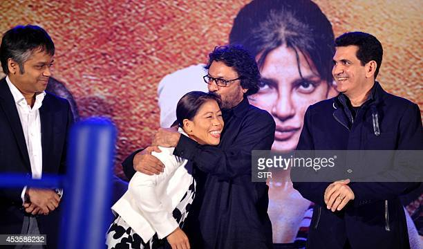 Indian woman boxer Mary Kom attends the music launch of the upcoming Indian biographical sports drama Hindi film 'MARY KOM' directed by Omung Kumar...