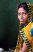 Indian woman in colorful sari
