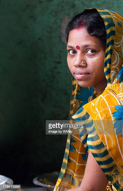 Indian woman in colorful sari