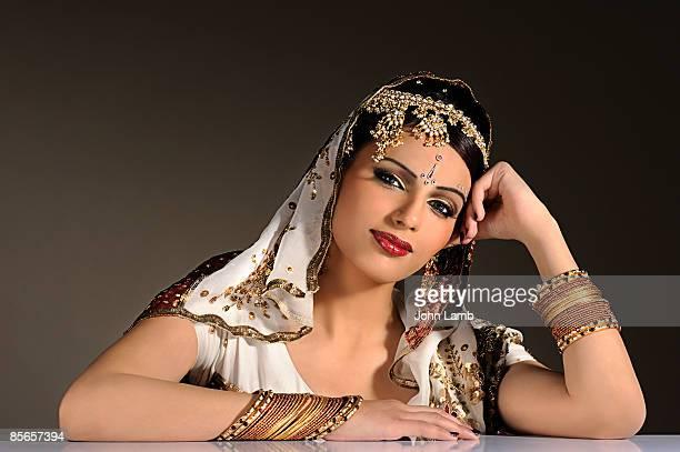 Indian woman in traditional dress(sari.)