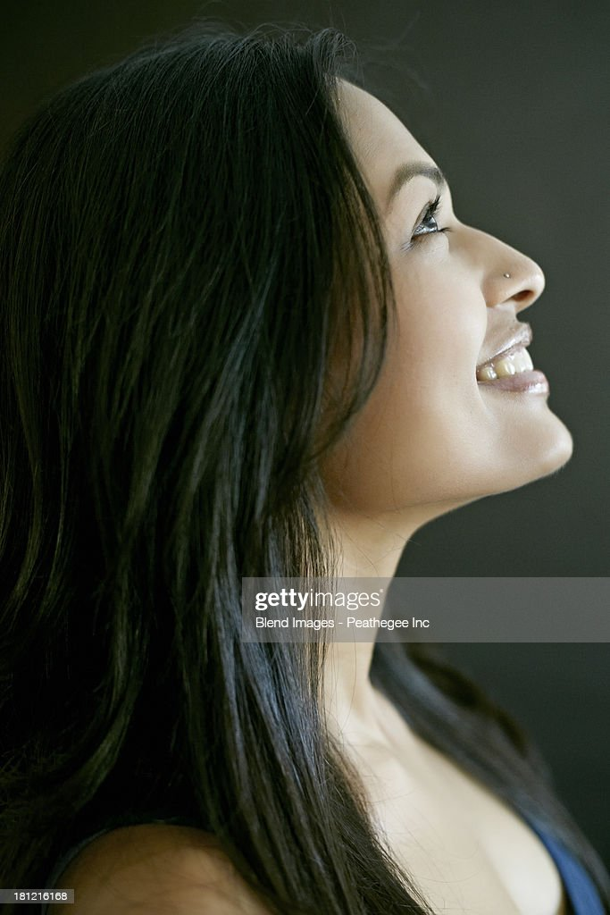 Indian woman smiling : Stock Photo
