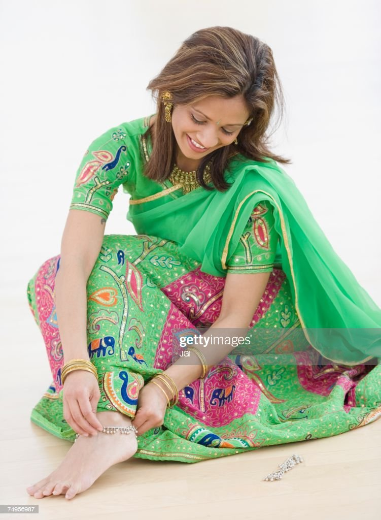 Indian woman wearing traditional dress : Stock Photo