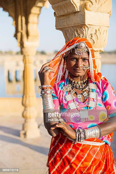 Indian woman wearing traditional jewelry