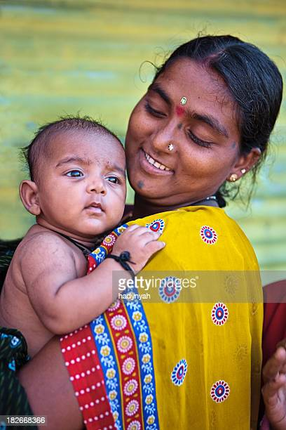 Indian woman with her baby