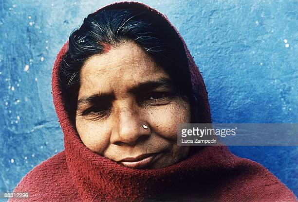 Indian woman with pierced nose