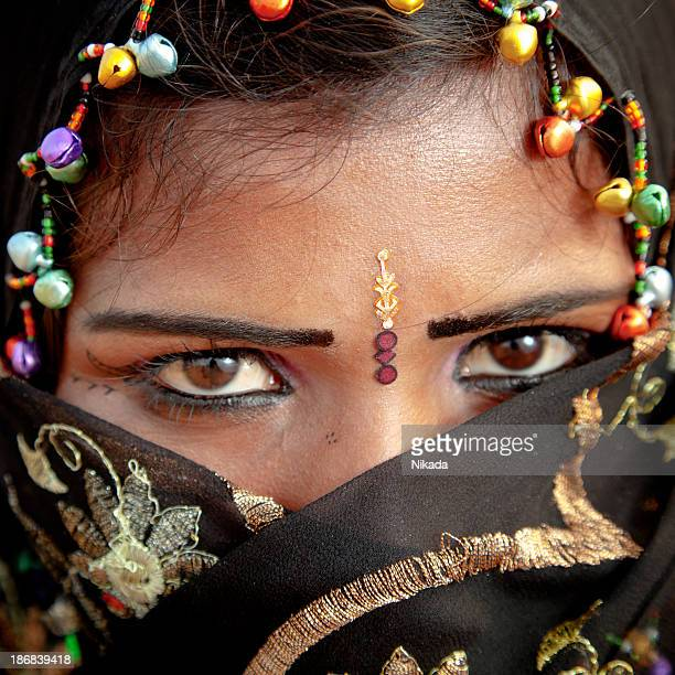 Indian Woman with traditional headscarf