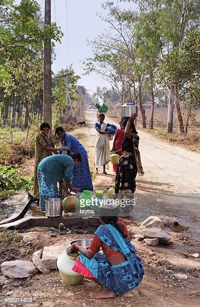 Indian women near the well