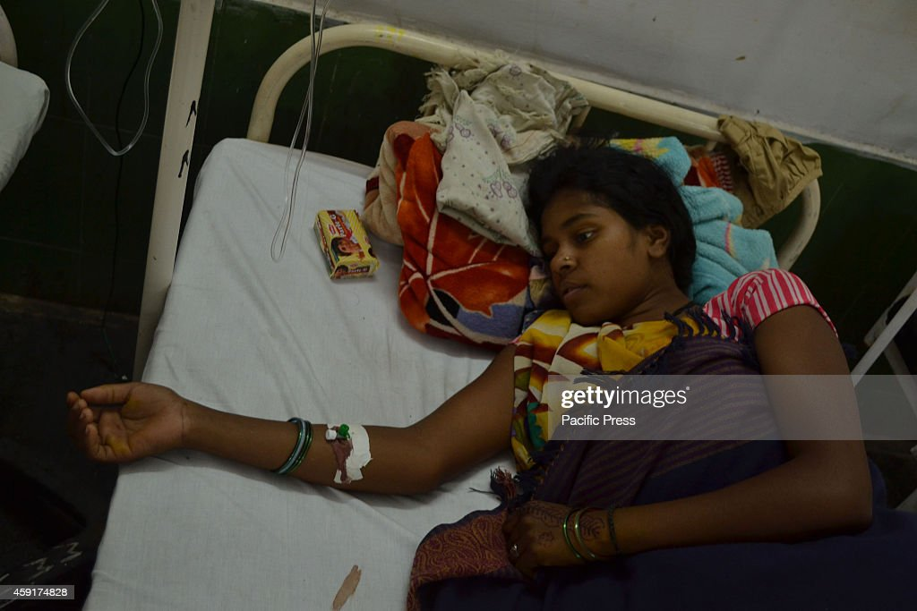 Indian women survivors from Bilaspur sterilization tragedy confined at CIMS hospital at Bilaspur