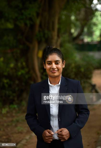 Indian Women's Cricket team captain Mithali Raj during the felicitating event on July 27 2017 in New Delhi India Mithali Raj led India to the final...