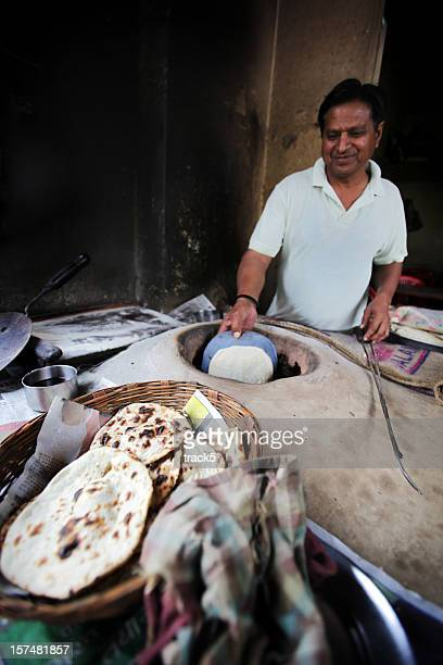 Indian workers: clay oven