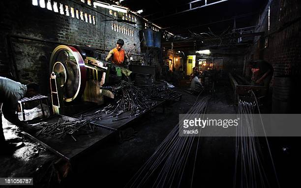 Indian workers: steel works