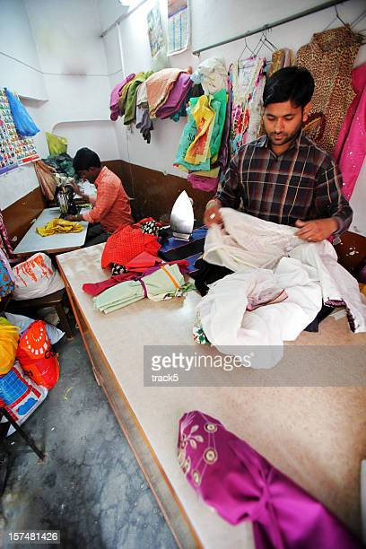 Indian workers: tailors workshop