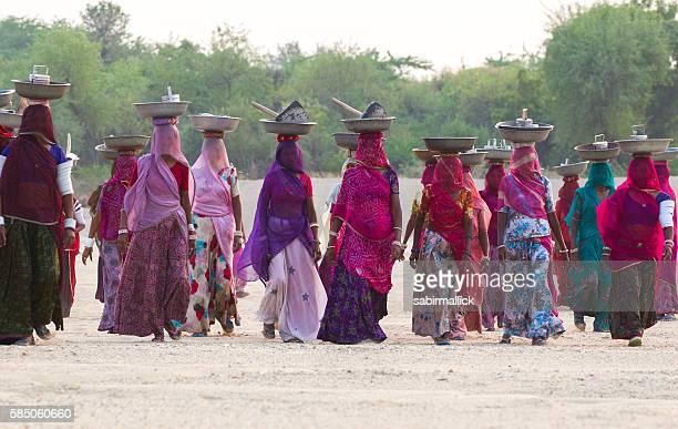 Indian working women, Rajasthan, India.
