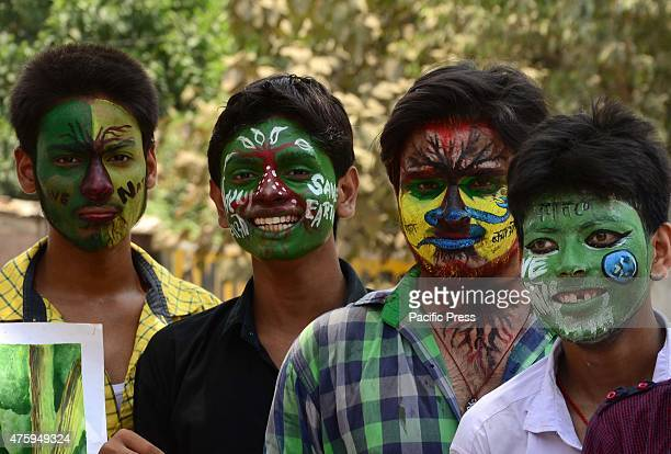 Indian youth color their faces for the awareness on World Environment Day The world Environment Day is celebrated on June 5 every year by the United...