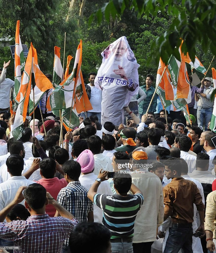 Indian Youth Congress Activists Protest Against External
