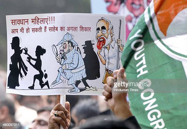 Indian Youth Congress and National Students Union of India activists protest attempting to march towards the official residence of Bharatiya Janata...