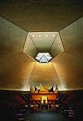 USA, Indiana, Columbus, North Christian Church, interior view