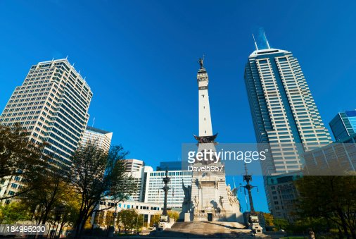 Indiana Downtown with Soldiers and Sailors Monument