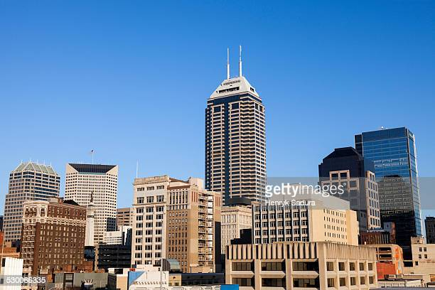 USA, Indiana, Indianapolis, Skyline against clear sky