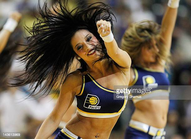 Indiana Pacemate performs in Game Two of the Eastern Conference Quarterfinals between the Indiana Pacers and Orlando Magic during the 2012 NBA...