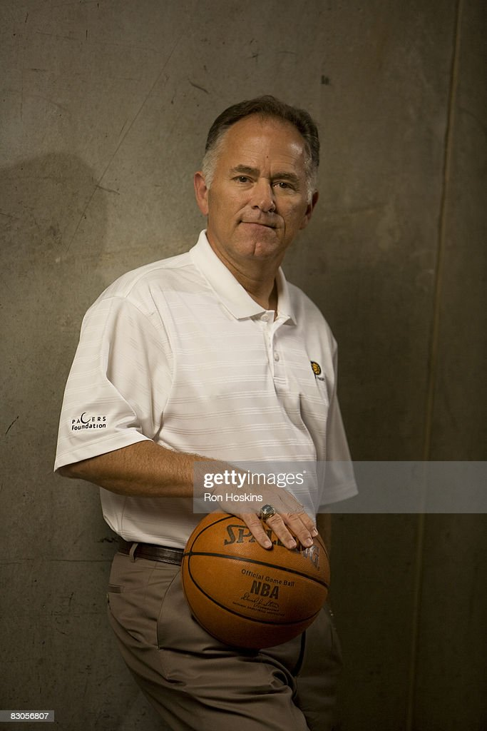 Indiana Pacers head coach Jim O'Brien poses for a portrait during NBA Media Day on September 29 2008 at Conseco Fieldhouse in Indianapolis Indiana...